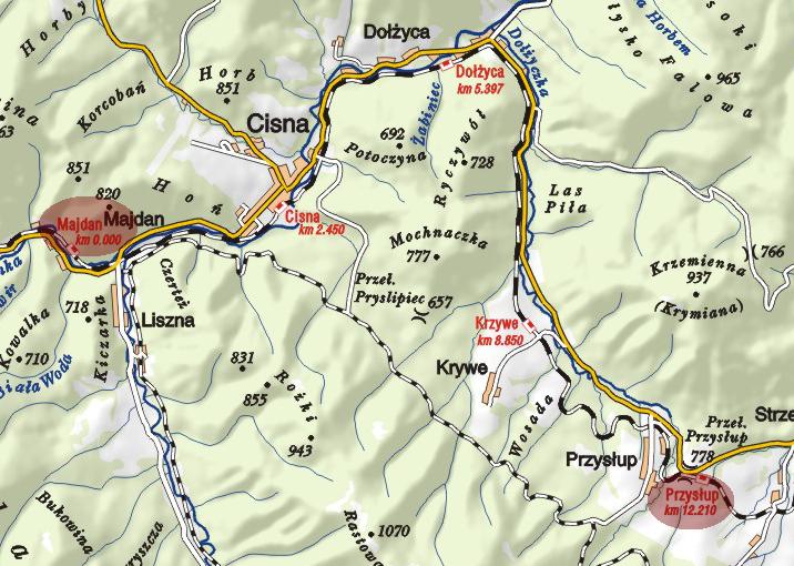 Bieszczadzka Kolejka Leśna | TRASA II: MAJDAN – PRZYSŁUP (11 KM)